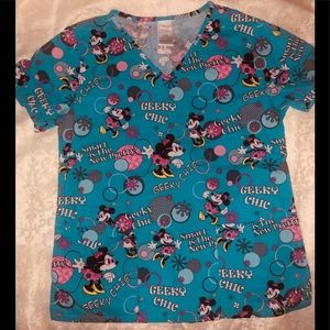 Womens DISNEY Minnie Mouse Geeky Chic V-Neck 3 Pck